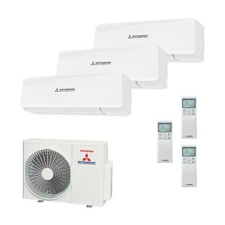 MITSUBISHI HEAVY Klimaanlage Wandgerät Multi Split Set 3 x SRK20ZS / SCM50ZS-S 3 x 2 kW farbig