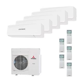 MITSUBISHI HEAVY Klimaanlage Wandgerät Multi Split Set 5 x SRK20ZS /SCM100ZM-S 5 x 2 kW farbig