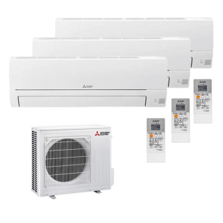 Mitsubishi electric Basic HR25 Multisplit Set 3 x 2,5 kW...