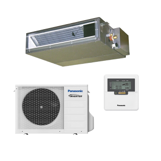 PANASONIC Klimaanlage UD3 Kanalgerät Single Split Set CS-Z50UD3EAW / CU-Z50UBEA 5 kW grau