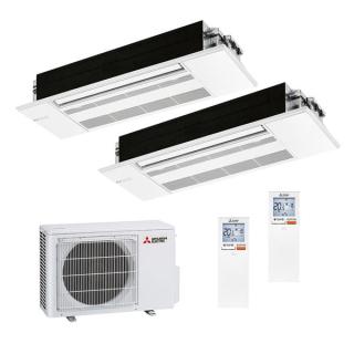 MITSUBISHI ELECTRIC Klimaanlage 1-Wege Deckenkassette Multi Split Set 2 x MLZ-KP25VF / MXZ-2F53VF(2) 2 x 2,5 kW