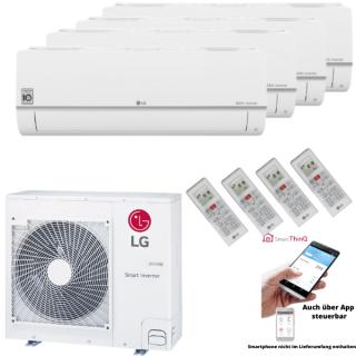 LG Klimaanlage Standard Plus Wandgerät Multi Split Set 4 x PC09SQ.NSJ / MU5R30.U40 4 x 2,5 kW