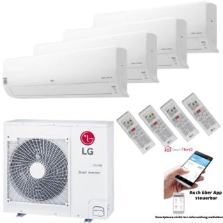 LG Klimaanlage Deluxe Wandgerät Multi Split Set 4 x DC09RH.NSJ / MU5R30.U40 4 x 2,5 kW