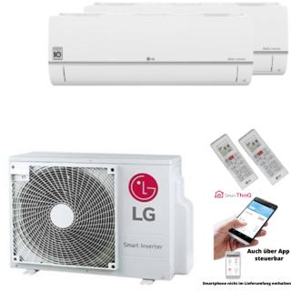 LG Klimaanlage Standard Plus Wandgerät Multi Split Set 2 x PC09SQ.NSJ / MU2R17.UL0 2 x 2,5 kW