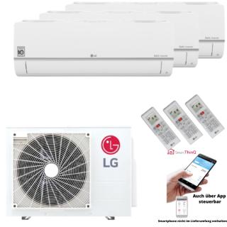 LG Klimaanlage Standard Plus Wandgerät Multi Split Set 3 x PC09SQ.NSJ / MU3R21.U21 3 x 2,5 kW