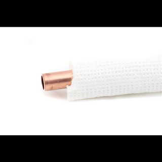 """25m Isoliertes CU-Rohr, Isol. schwerentflammbar 9mm -  1/2"""" 0,8mm (ungebördelt)"""