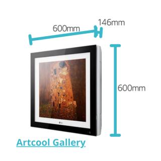 LG Artcool Gallery Multisplit Wandgerät schwarz 2,6 kW