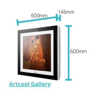 LG Artcool Gallery Multisplit Wandgerät schwarz 3,5 kW