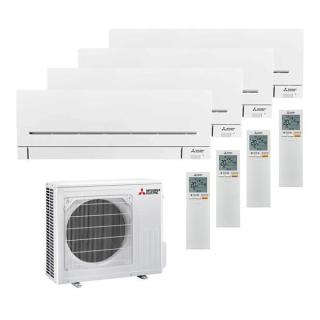 MITSUBISHI ELECTRIC Klimaanlage Kompakt Hyper-Heating Wandgerät Multi Split Set 4 x MSZ-AP25VGK / MXZ-4F83VFHZ 4 x 2,5 kW