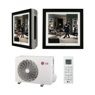 LG Klimaanlage Artcool Gallery Wandgerät Single Split Set A09FT.NSF / A09FT.UL2 2,5 kW schwarz