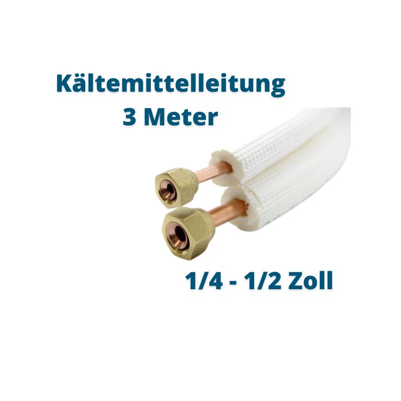 Kältemittelleitung 3 Meter 1/4 1/2 Zoll