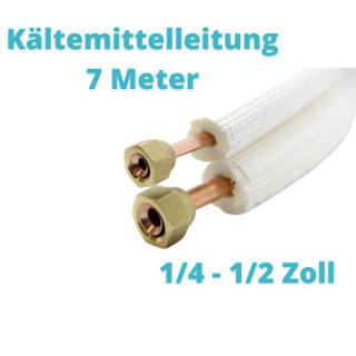 Kältemittelleitung 7 Meter 1/4 1/2 Zoll
