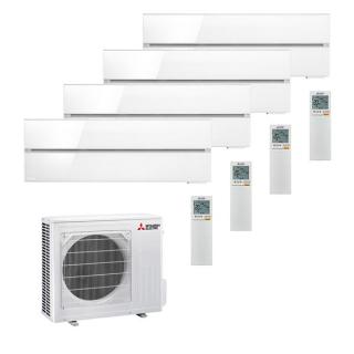 MITSUBISHI ELECTRIC Klimaanlage Diamond Wandgerät Multi Split Set 4 x MSZ-LN25VG2-W / MXZ-4F72VF3 4 x 2,5 kW