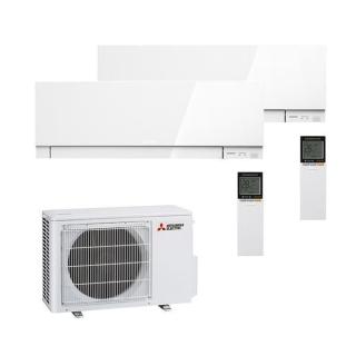 MITSUBISHI ELECTRIC Klimaanlage Premium Wandgerät Multi Split Set 2 x MSZ-EF25VGK-W / MXZ-2F53VF3 2 x 2,5 kW