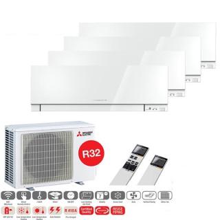 MITSUBISHI ELECTRIC Klimaanlage Premium Wandgerät Multi Split Set 4 x MSZ-EF25VGK-W / MXZ-4F72VF3 4 x 2,5 kW