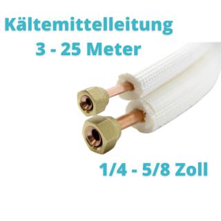 """Isoliertes CU-Rohr, Isol. schwerentflammbar 9mm 1/4"""" + 5/8"""" gebördelt mit Überwurfmuttern"""