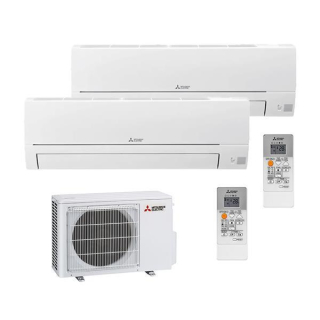 MITSUBISHI ELECTRIC Klimaanlage Basic Wandgerät Multi Split Set MSZ-HR35VF + MSZ-HR35VF / MXZ-2HA50VF 3,5 + 3,5 kW
