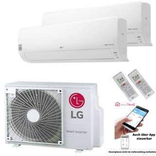 LG Klimaanlage Deluxe Wandgerät Multi Split Set 2 x DC09RH.NSJ / MU2R17.UL0 2 x 2,5 kW