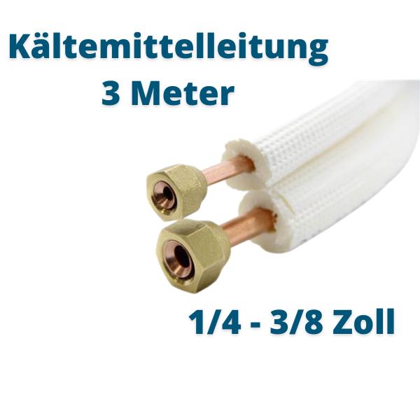 Kältemittelleitung 3 Meter 1/4 3/8 Zoll