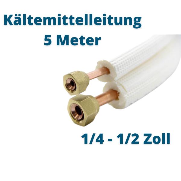 Kältemittelleitung 5 Meter 1/4 3/8 Zoll